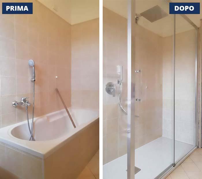 Cambio vasca in doccia a San Polo - Brescia