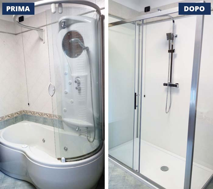 cambio vasca in doccia - Verona