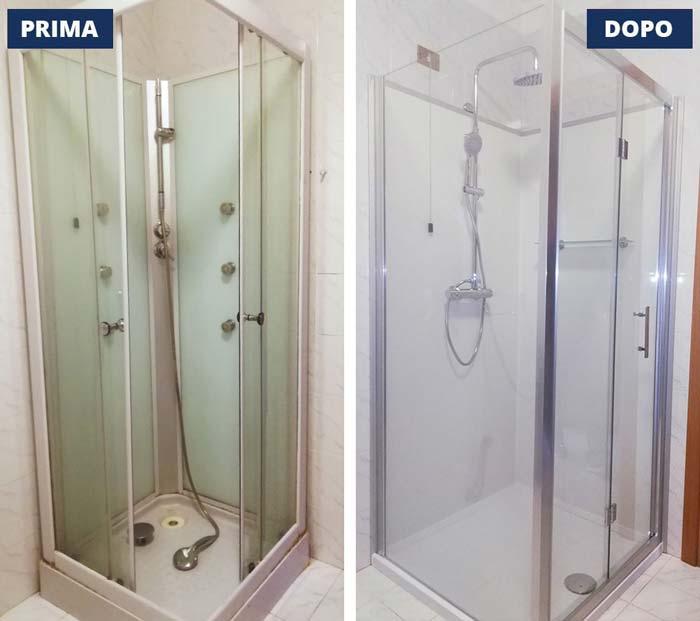 Sostituzione doccia 70x90 a Lumezzane -  Brescia