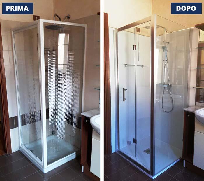 Sostituzione doccia 75x75 a Desenzando del Garda -  Brescia