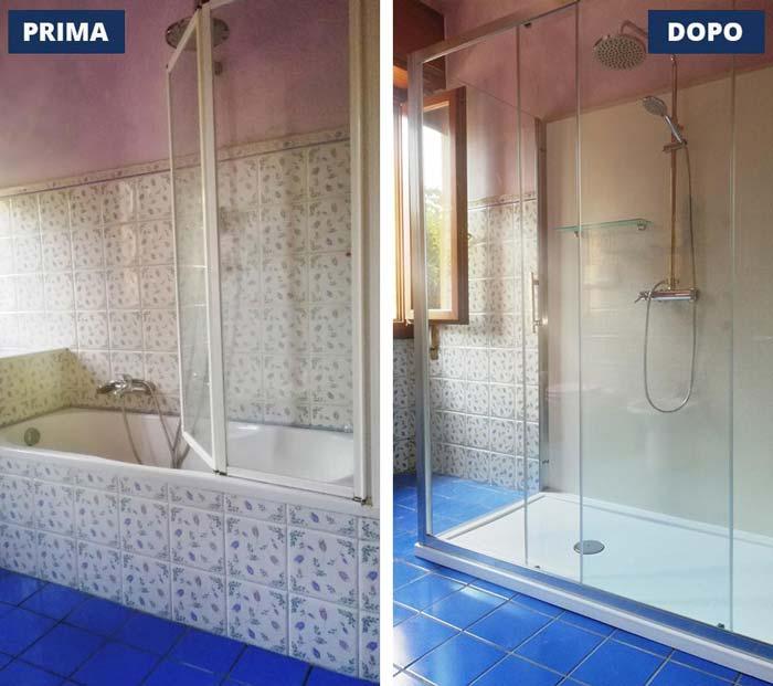 Trasformazione da vasca a doccia a Brescia