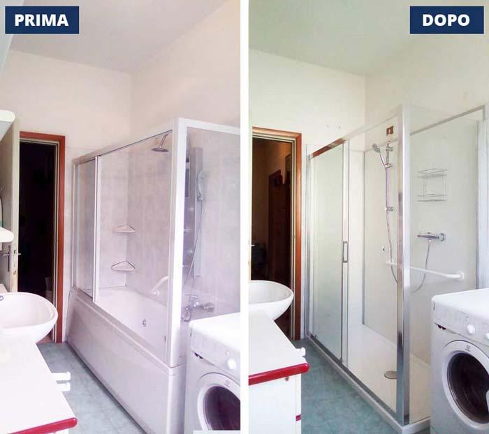 Trasformazione vasca in doccia a Villa Carcina