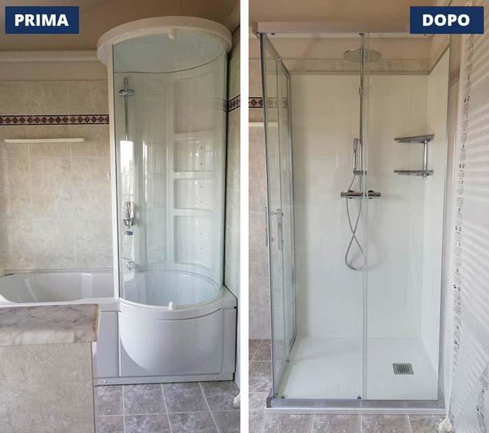 Trasformazione vasca in doccia a Brescia - Viale Venezia
