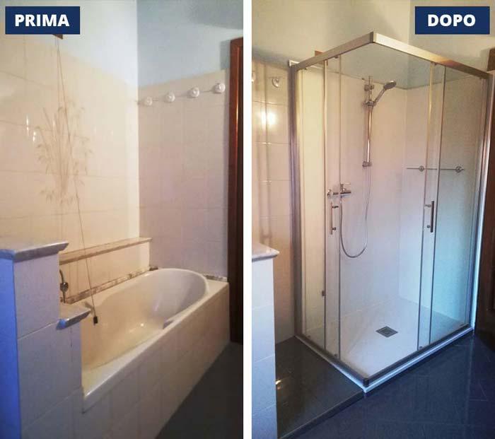 Trasformazione vasca in doccia a Pisogne- Val Camonica