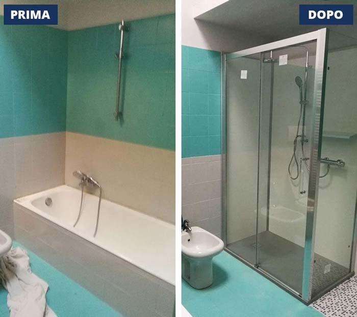 vasca in doccia Capriano del Colle - Brescia